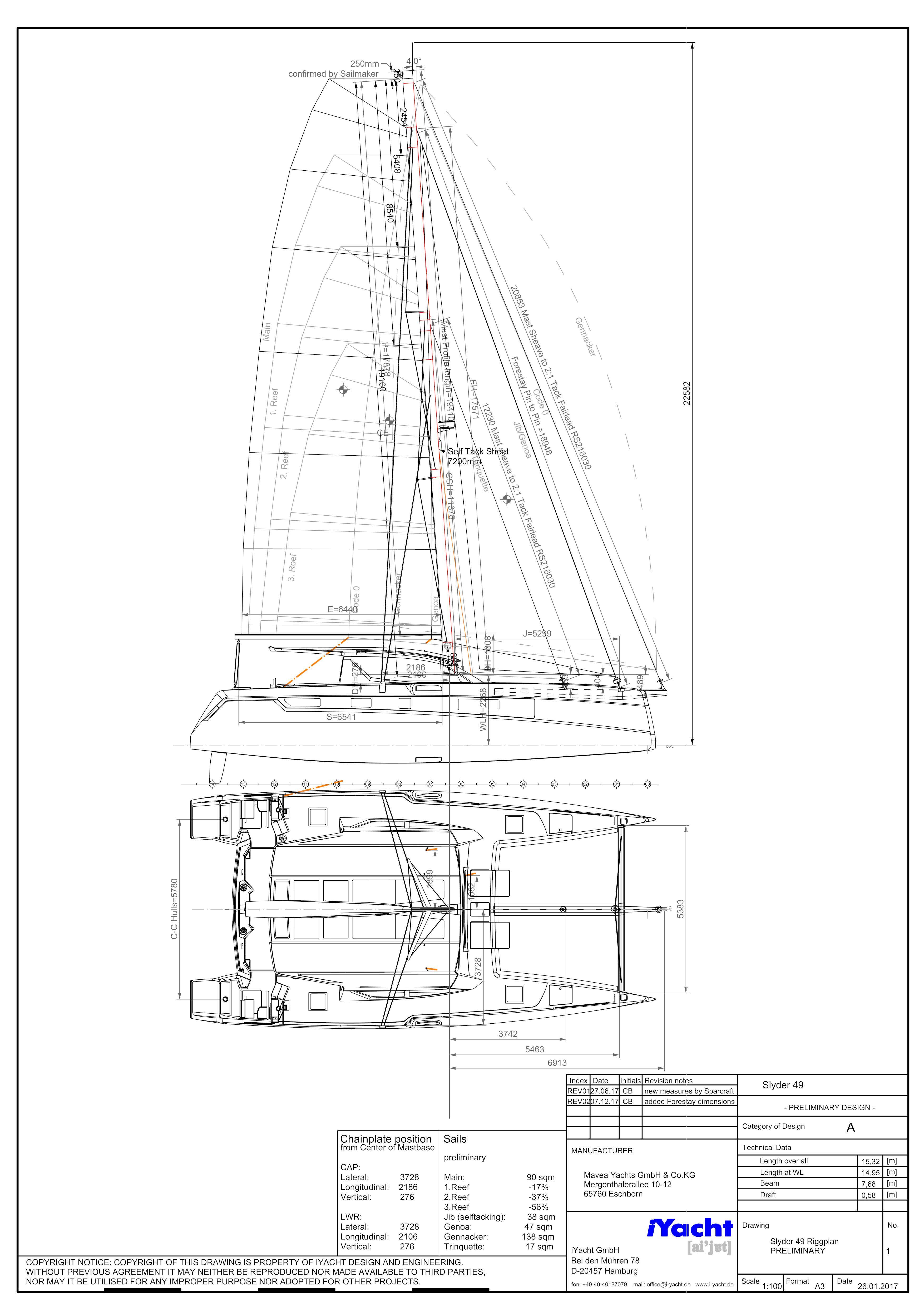 Slyder 49 Riggplan REV02 Boat#1